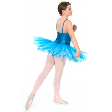 Classic Liquid Foil Kingfisher Tutu - 4 layers of net