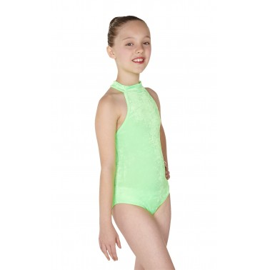 Petra Sleeveless Polo Dance Leotard Velvet