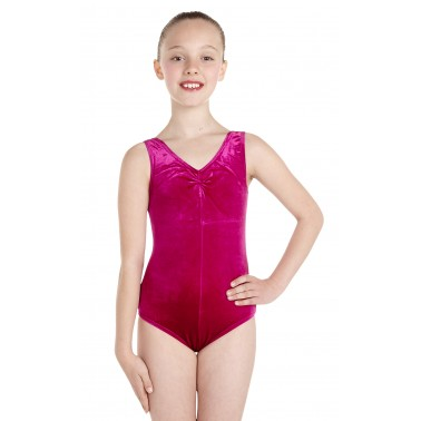 Angela Sleeveless Dance Leotard Velvet