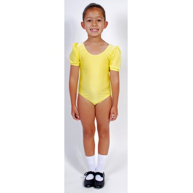 Jolie Short Puff Sleeve Dance Leotard Lycra