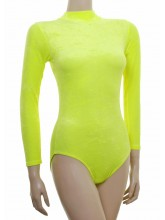 Penny Long Sleeve Polo Dance Leotard Velvet (DD-PENV)