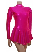 Penny Long Sleeve Short Dress Liquid Foil - Dance Leotards (DD--SHEEN)