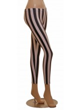 Footless Tights Lycra Black/White Stripe (DD-STL-BLACK/WHITE STRIPE COPY)