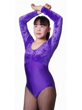 Keely Long Sleeved Dance Leotard Velvet/Lycra (DD-KEEVL)