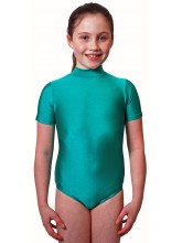 Pam Short Sleeve Polo Dance Leotard Lycra (DD-PAML)