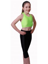 Sleeveless Halter Neck Dance Crop Tops Lycra (DD-HTOPL)