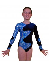 Galaxy Long Sleeve Gym Leotards - 1012 (OLYM-GALAXY-1012)