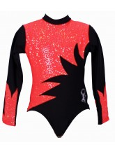 Omega Long Sleeve Gym Leotards - (#029a) (OLYM-OMEGA-1006)