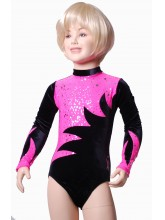 Omega Long Sleeve Gym Leotards - (#029b) (OLYM-OMEGA-1021)