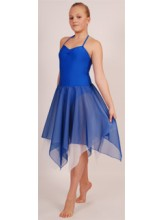 Carmel Camisole Handkerchief Lyrical Dress Lycra/Chiffon (DD-CARDLH2)