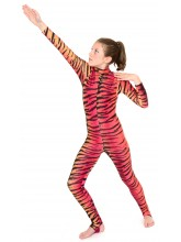 Elsa Red/Orange Tiger Catsuit - 2011 (SHOW-ELSA-RED/ORANGE TIGER)