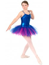 Classic Liquid Foil Royal Blue Tutu - 4 layers of net (DD-TUTU-SHEEN1)