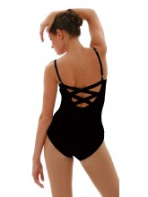 BD101 Capezio Camisole Leotard with Criss Cross Straps in Bodisilk (CAP-BD101)