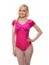 Jane Short Sleeve Dance Leotard Velvet/Lycra (DD-JANVL)