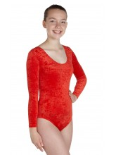 Keely Long Sleeved Dance Leotard Velvet (DD-KEEV)