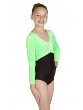 Kerry Long Sleeve Dance Leotard Velvet/Lycra (DD-KERVLB)
