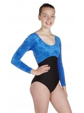 Keely Long Sleeved Dance Leotard Velvet/Lycra (DD-KEEVLB)
