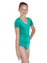 Simone Short Sleeve Dance Leotard Velvet (DD-SIMV)