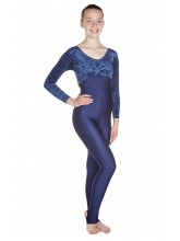 Heather Long Sleeved Leotard - Catsuit Velvet/Lycra (DD-HEAVL)
