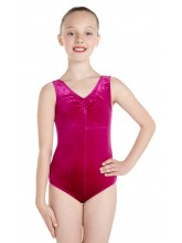 Angela Sleeveless Dance Leotard Velvet (DD-ANGV)