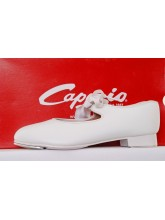 925 White Capezio Low Heel PU Tap Dance Shoes (CAP-925WHITE)