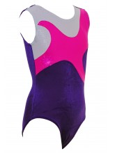 Star Shadow Sleeveless Gym Leotards - 3060 (OLYM-STARSHADOW-3060)