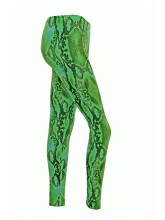 Footless Tights Lycra Green Snake Print (DD-STL-GREENSNAKECOPY)