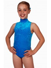 Polly Sleeveless Polo Dance Leotard Velvet (DD-POLV)