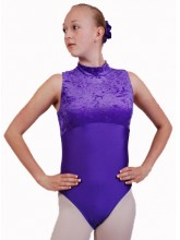 Polly Sleeveless Polo Dance Leotard Velvet/Lycra (DD-POLVL)
