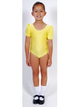Jolie Short Puff Sleeve Dance Leotard Lycra (DD-JOLL)