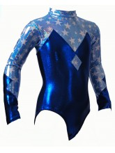 Diamond Long Sleeve Gym Leotards - 1008 (OLYM-DIAMOND-1008)