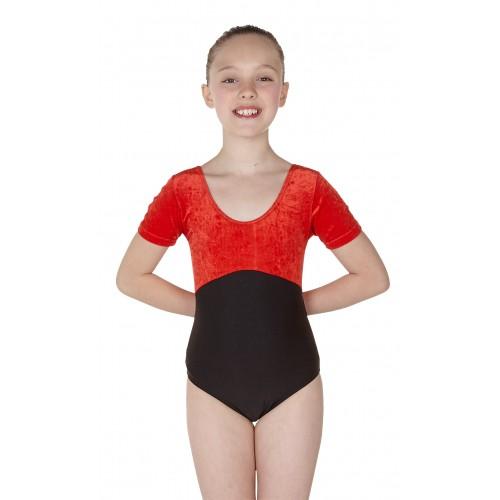 1f67a19d9e81 Wholesale Dance - Simone Short Sleeve Dance Leotard Velvet/Black ...